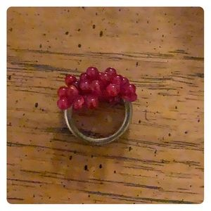 Jewelry - red beaded fashion ring